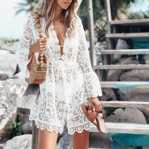 COMING SOON! White Lace Dress / Beach Cover Up